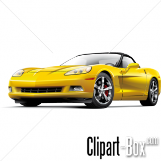 Yellow clipart corvette Free hd design vector Royalty