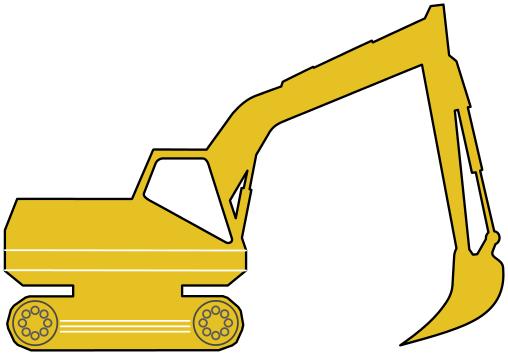 Excovator clipart yellow Clip Excavator Yellow Art Excavator