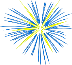 Yellow clipart firework Fireworks facebook with with of
