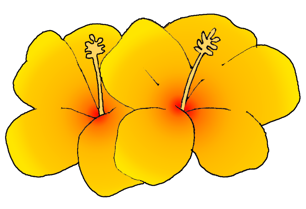 Yellow Flower clipart hawaiian Images Hawaiian Free Flower