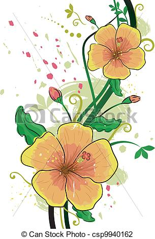 Yellow clipart gumamela Vector  Illustration Illustration Hibiscus
