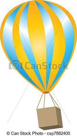 Yellow clipart hot air balloon Hot Clipart Vector Air balloon