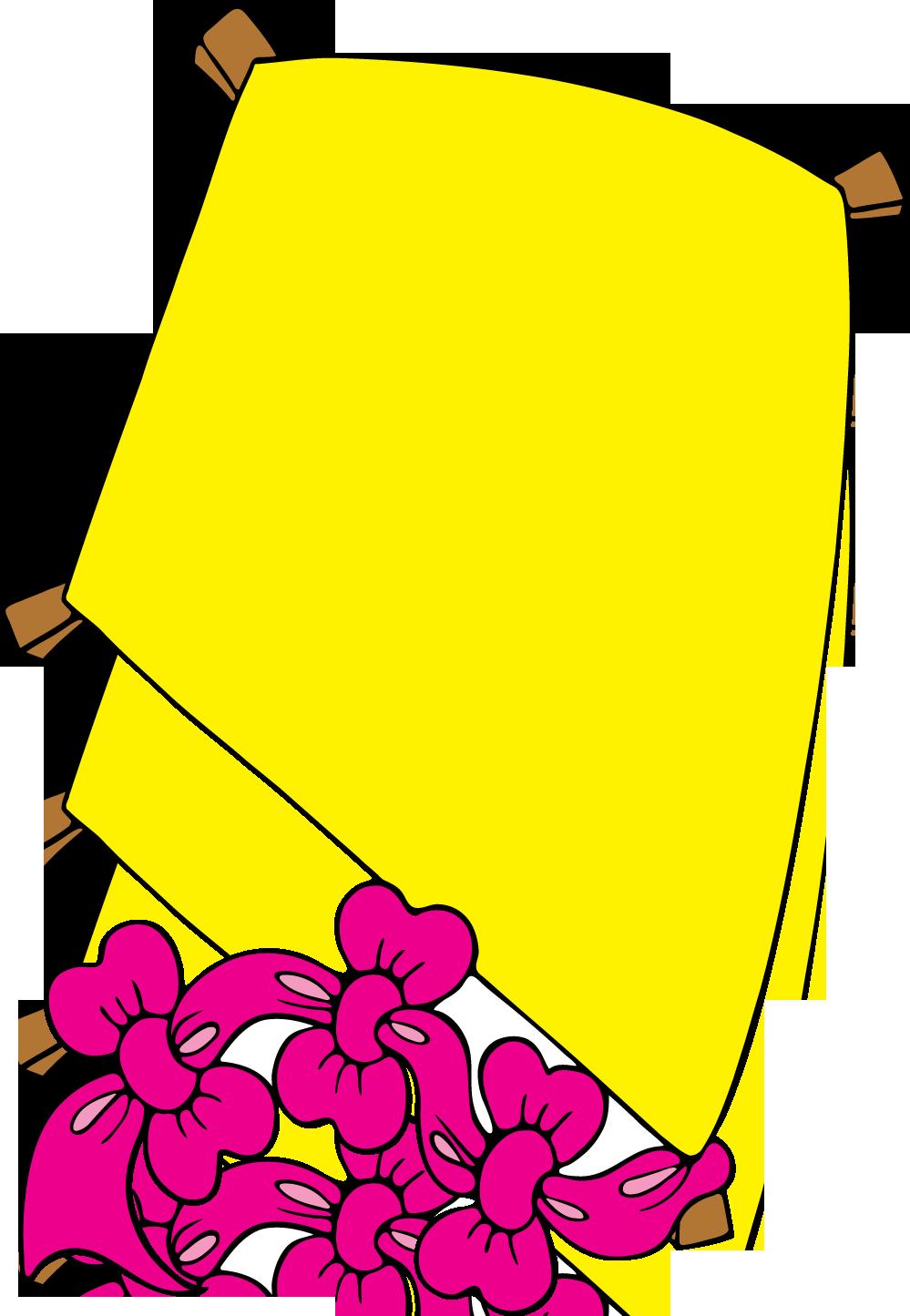 Yellow clipart kite  Clipart Clipartion Kite com