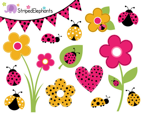 Yellow clipart ladybug Use Commercial Clipart on Art