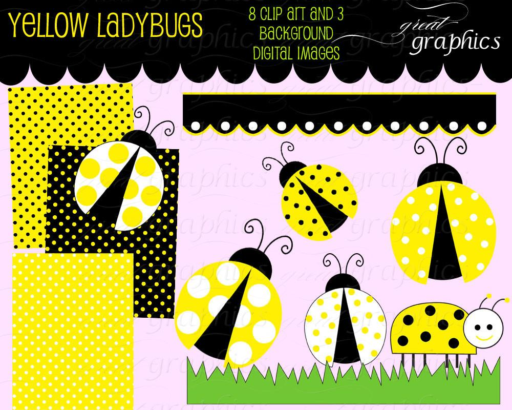 Yellow clipart ladybug Lady Clip Yellow Clip Bug