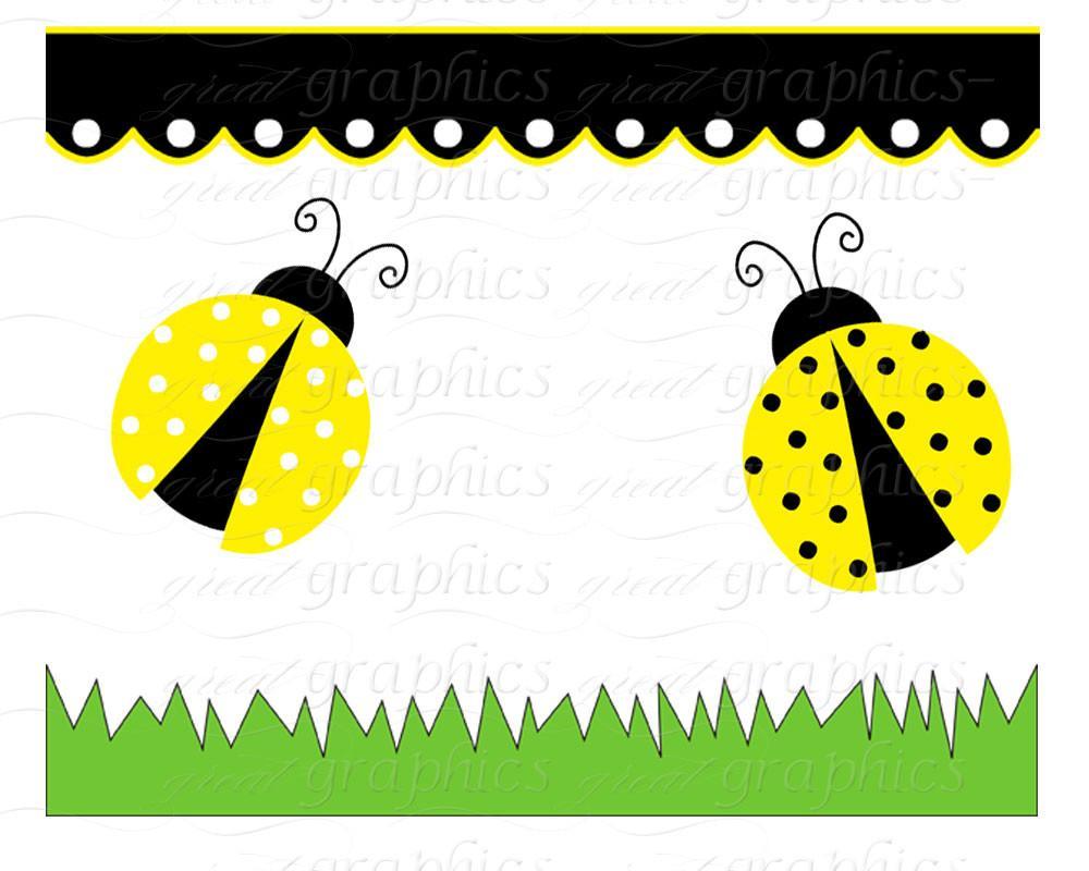Yellow clipart ladybug Yellow Party Ladybug Clip Bug