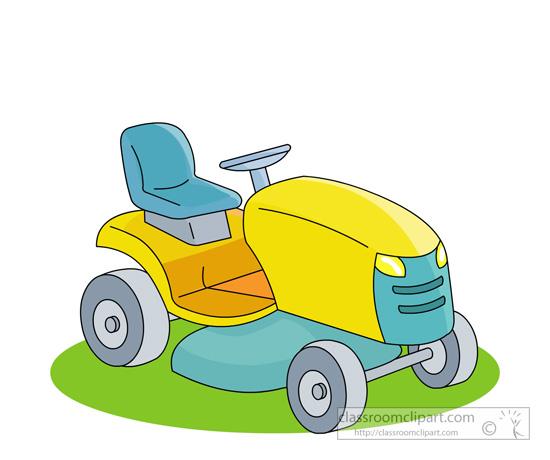 Yellow clipart lawn mower Mower lawn riding jpg riding
