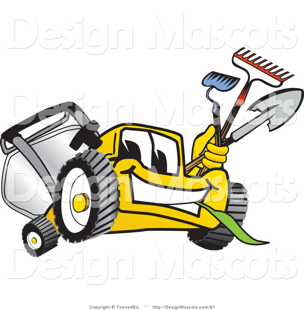 Yellow clipart lawn mower Clipart of Clipart Lawn Yellow