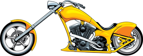 Yellow clipart motorbike Vector Luxury Clipart free Free