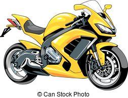 Yellow clipart motorbike Design white  my my