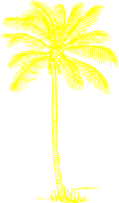 Yellow clipart palm tree Yellow at Palm Tree Art