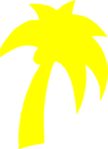 Yellow clipart palm tree Palm com Tree Art Clker