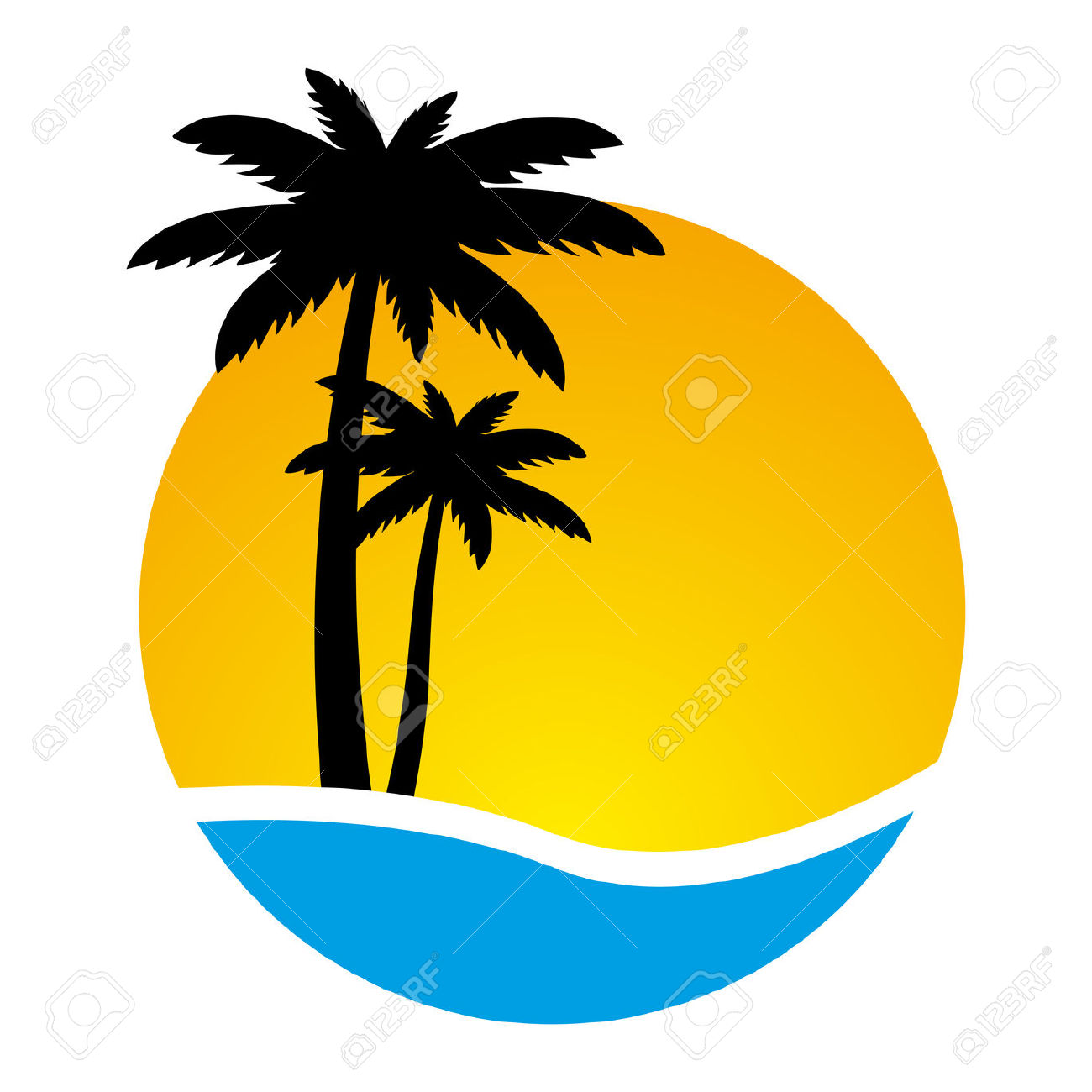 Yellow clipart palm tree Palm 64 tree clip #2