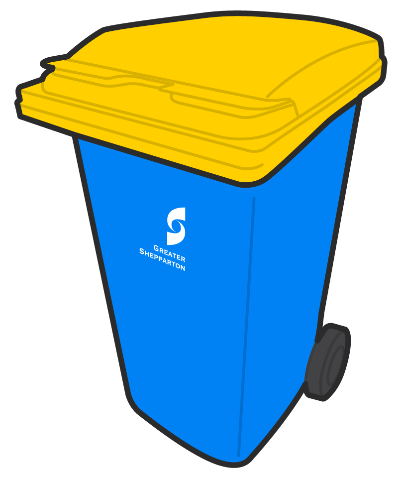 Yellow clipart recycle bin Size option Lid Shepparton 240