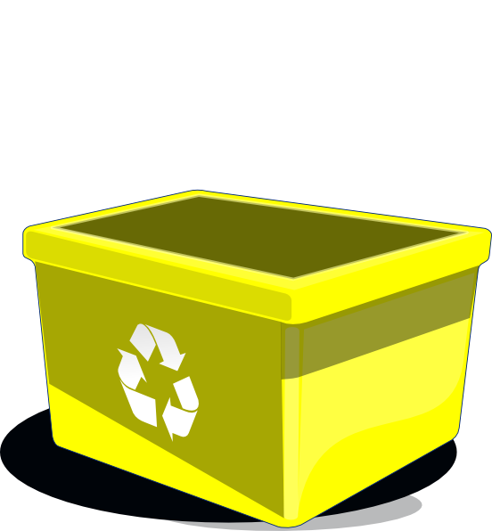 Yellow clipart recycle bin As: clip Clip  Clker