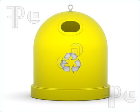 Yellow clipart recycle bin Recycle Plastic Bin Only Only