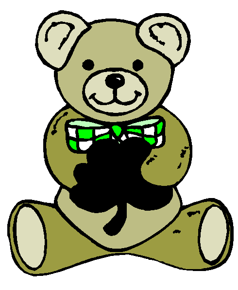 Yellow clipart shamrock Teddy Shamrock Bear Shamrock Clipart