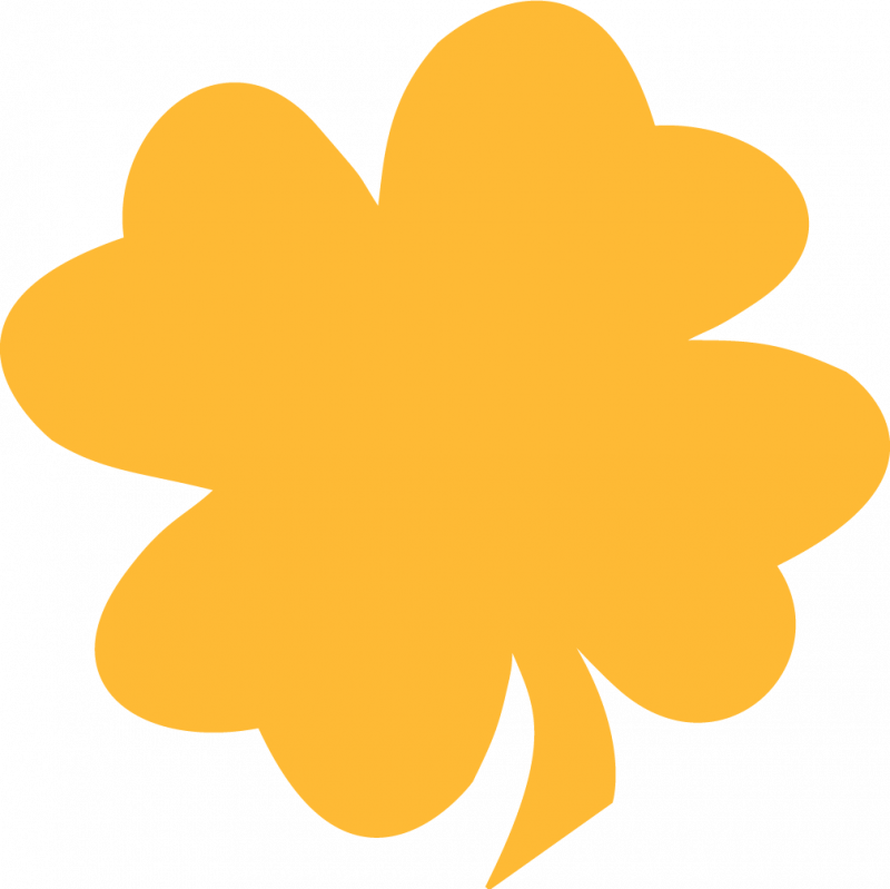 Yellow clipart shamrock Clipart Clipground Tattoo clover Yellow