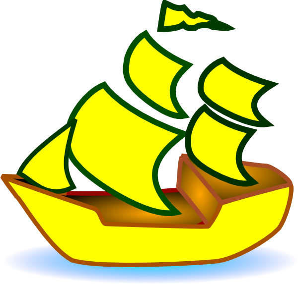 Yellow clipart ship Image Clker at as: this