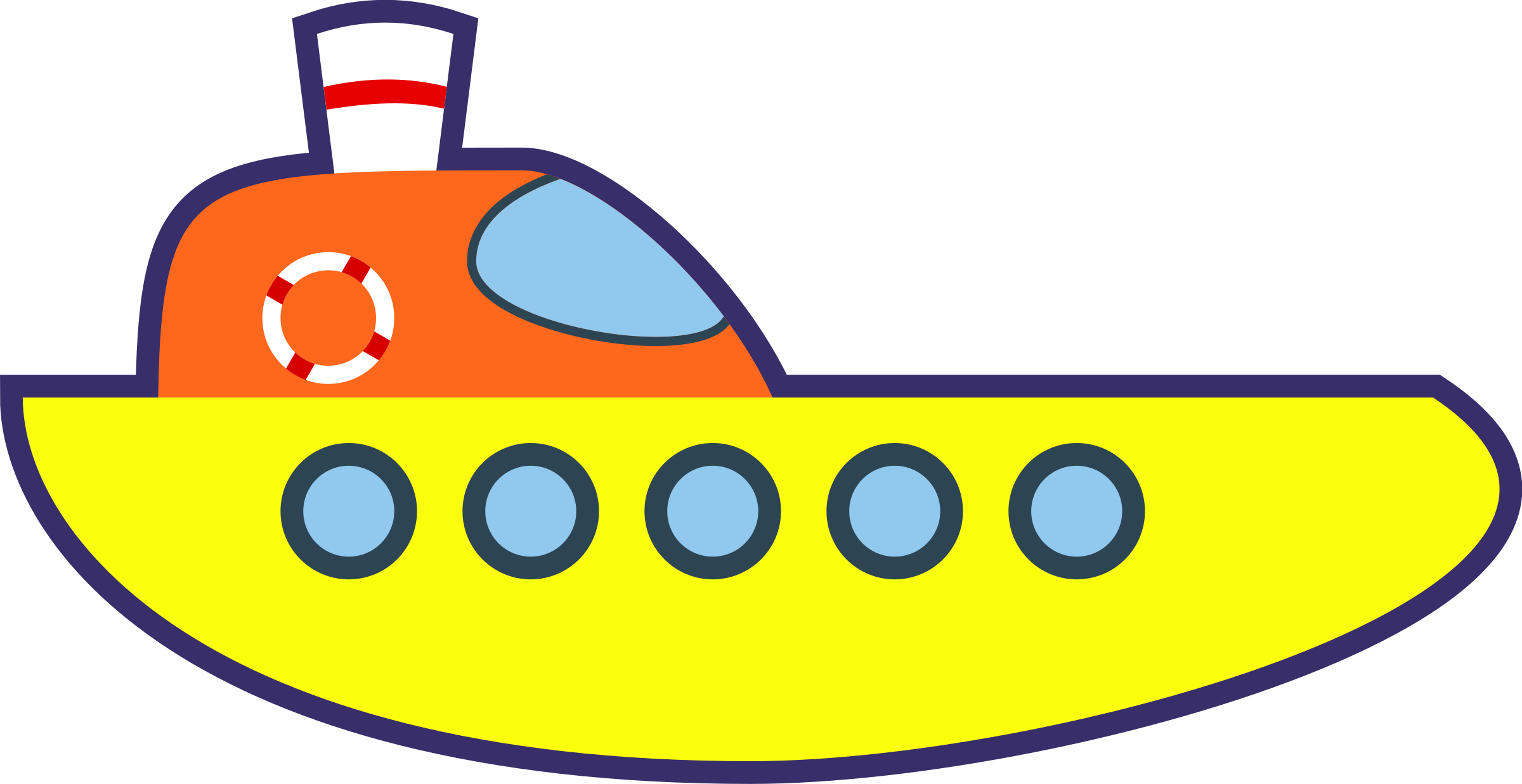 Yellow clipart ship Ship Clipart Cartoon Ship Yellow
