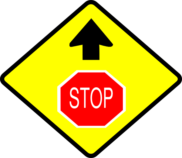 Yellow clipart stop sign Online Clip Download art as: