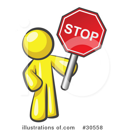 Yellow clipart stop sign #30558 by Royalty Clipart Stop