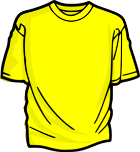 Yellow clipart t shirt Yellow shirt at Clker vector