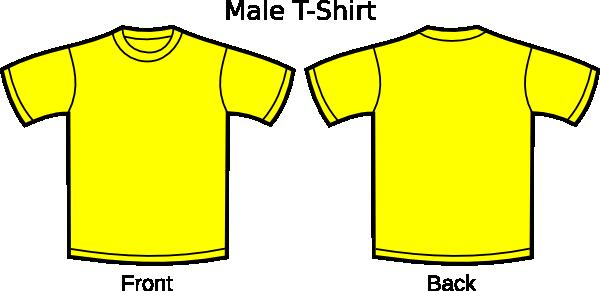 Yellow clipart t shirt T Clip Clker com clip