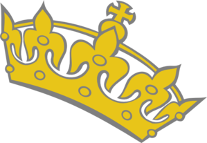 Yellow clipart tiara Clip Clker Tilted at Tiara
