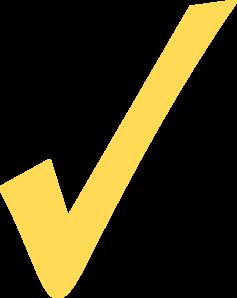 Yellow clipart tick At Clip clip com vector