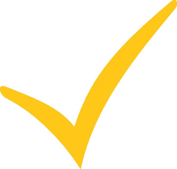 Yellow clipart tick Clip com free Clker com