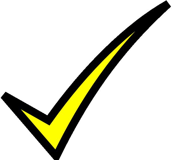 Yellow clipart tick Clker Art art vector clip