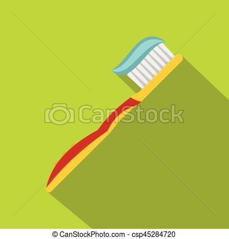 Yellow clipart toothbrush Of Yellow Vector icon flat