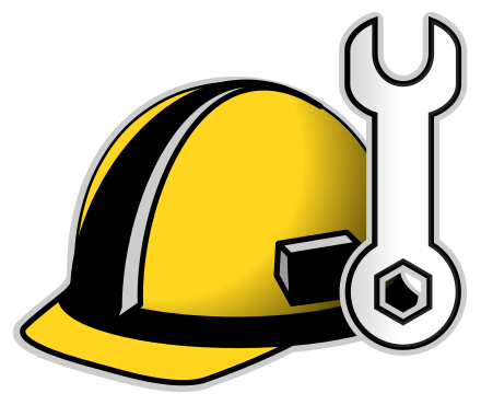 Yellow clipart wrench And Hat 3 Clip Art