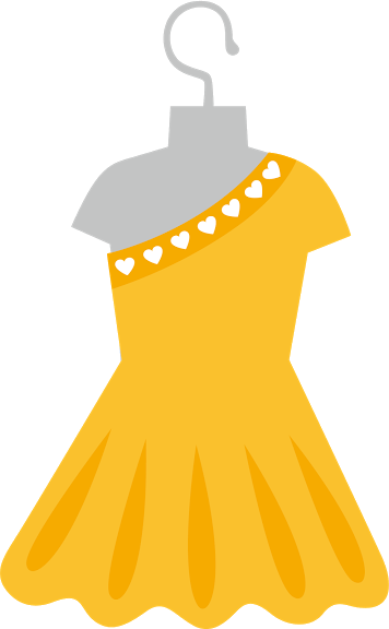 Yellow Dress clipart clothes COMPLEMENTOS PartyYellow  Printable Dressing