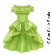 Yellow Dress clipart clothes Yellow green  vintage clip