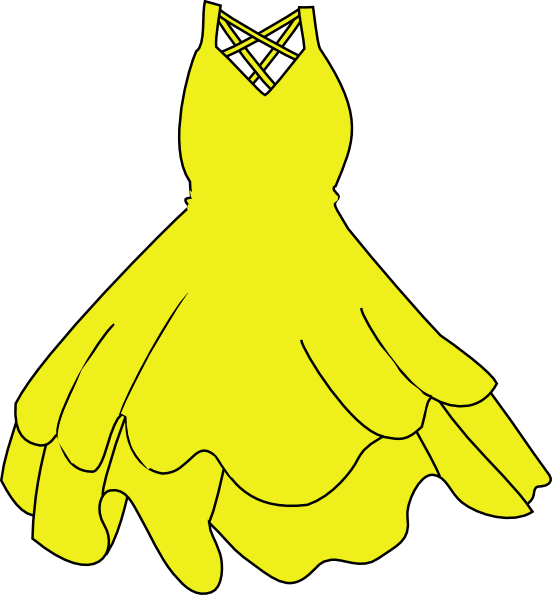 Yellow Dress clipart drees Dress com  this art