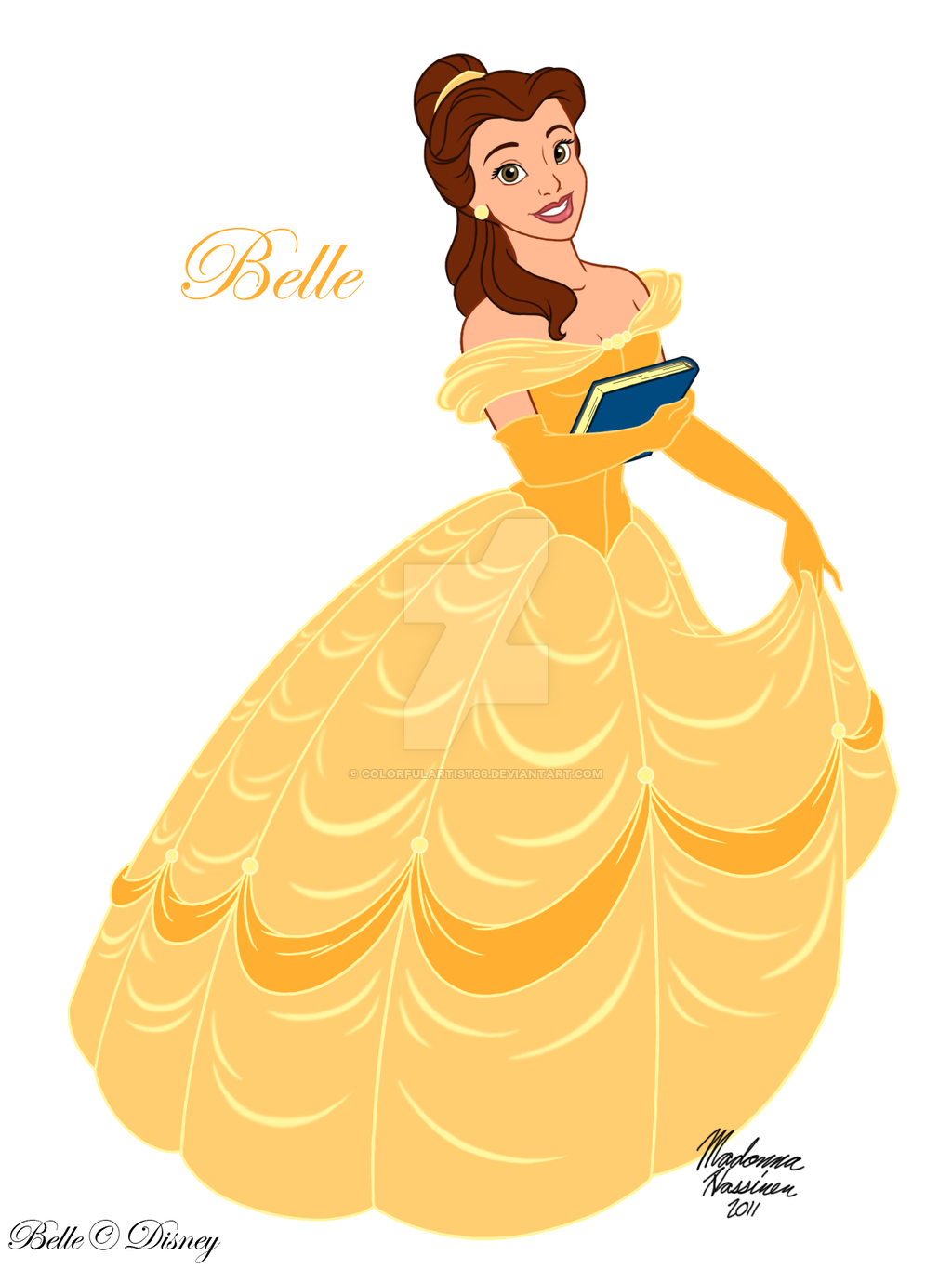 Yellow Dress clipart beauty and the beast belle The Beauty by ColorfulArtist86 DeviantArt