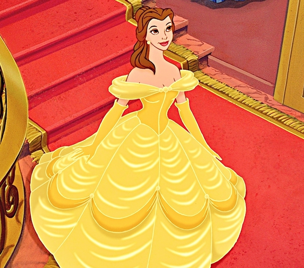 Yellow Dress clipart beauty and the beast belle On and  this jpg