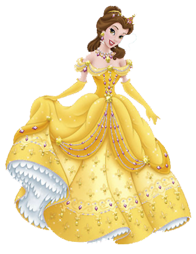 Yellow Dress clipart belle Belle Clipart Yellow Gown Glamour