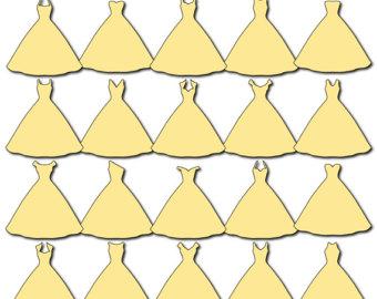Yellow Dress clipart belle PNG/JPG) Etsy Clip Dress Wedding