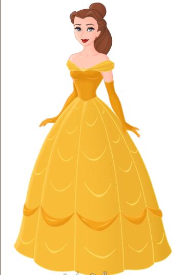 Yellow Dress clipart belle By Belle strwalker by on
