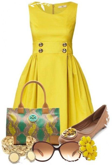 Yellow Dress clipart casual dress Burch cute shoes! too super