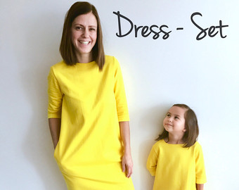 Yellow Dress clipart casual dress Mother and dress dresses mom
