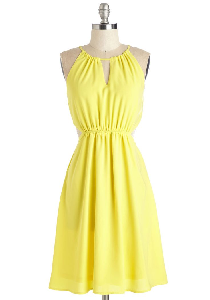 Yellow Dress clipart casual dress Ensemble yellow this is bright