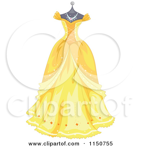 Yellow Dress clipart drees Clipart dress Clipart – princess