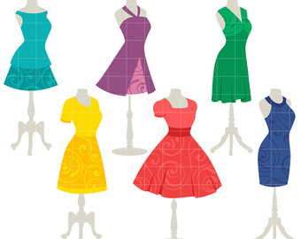 Yellow Dress clipart dress form Pretty Card Toppers Cupcake clip