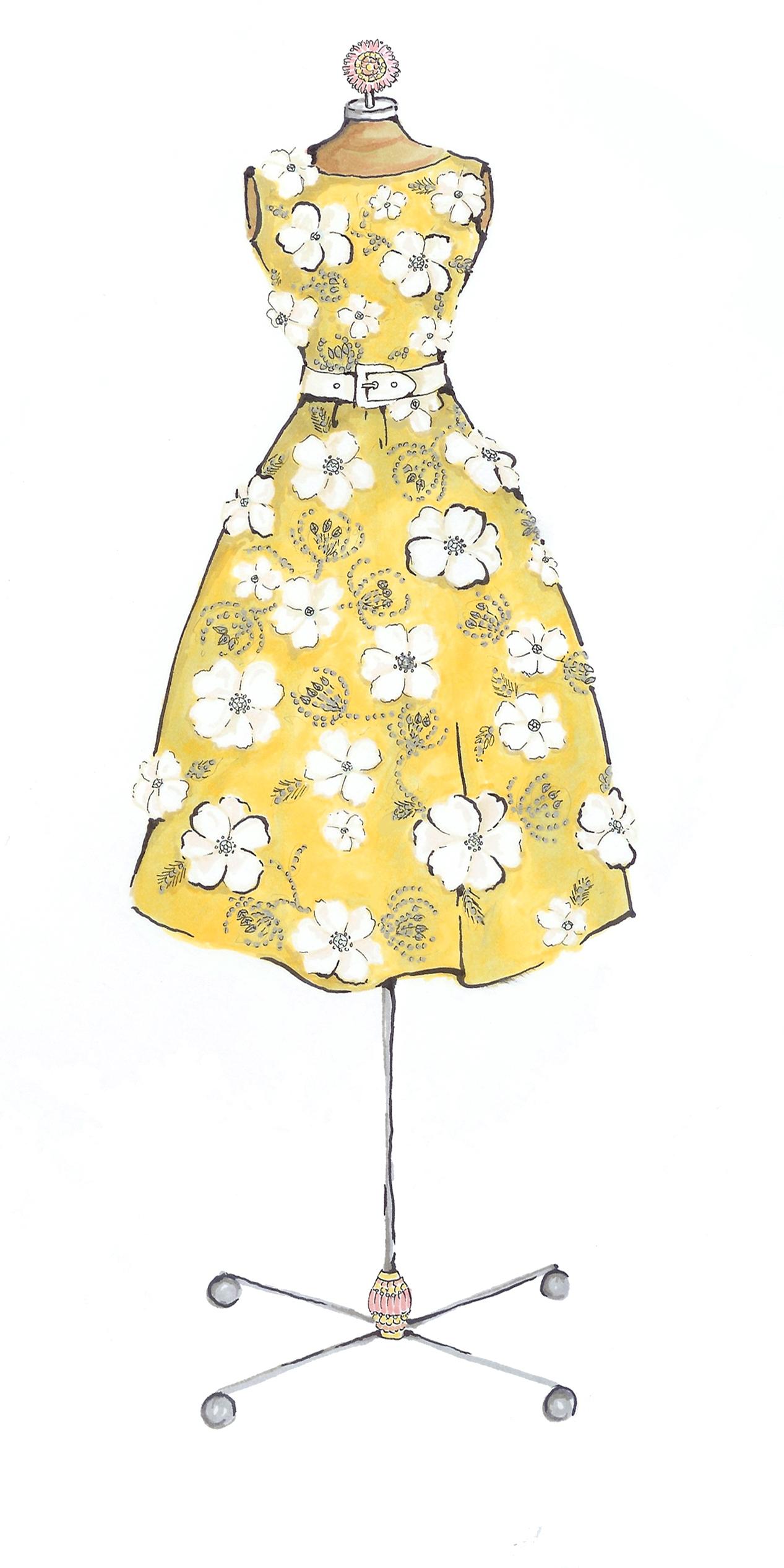 Yellow Dress clipart fashion dress Yellow dress Fashion Leung yellow