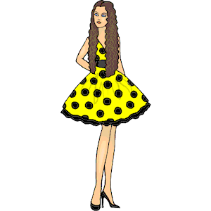 Yellow Dress clipart party dress Dress download formats clipart Party