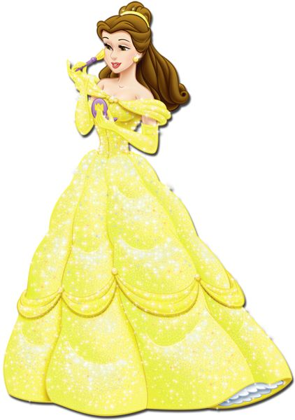 Yellow Dress clipart princess costume Personagens PNG images Princess Clipart